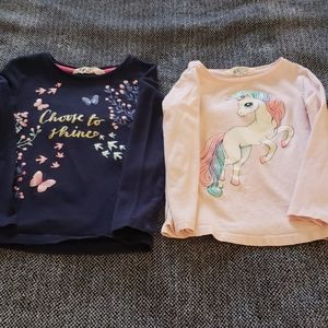 Lot of 2 H&M long sleeved tops